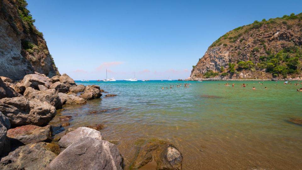 Bay of San Montano featuring rugged coastline and general coastal views