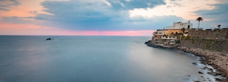 Soccorso Church featuring general coastal views, landscape views and a sunset