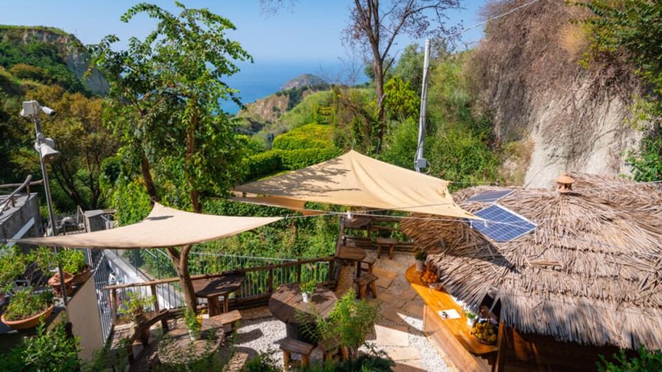 Nitrodi Hot Springs featuring general coastal views and rugged coastline