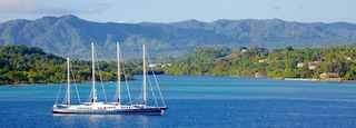 Port Vila featuring boating, a coastal town and general coastal views