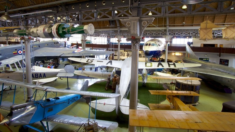 Museum of Science and Industry which includes interior views and aircraft