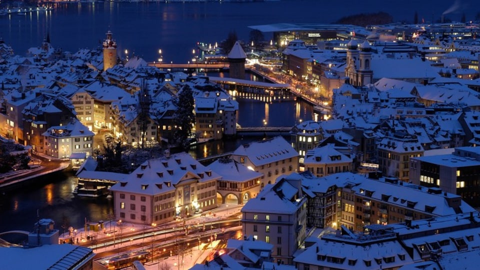 Lucerne which includes a lake or waterhole, a city and a river or creek