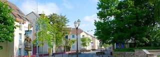 Roissy-en-France showing a small town or village and street scenes