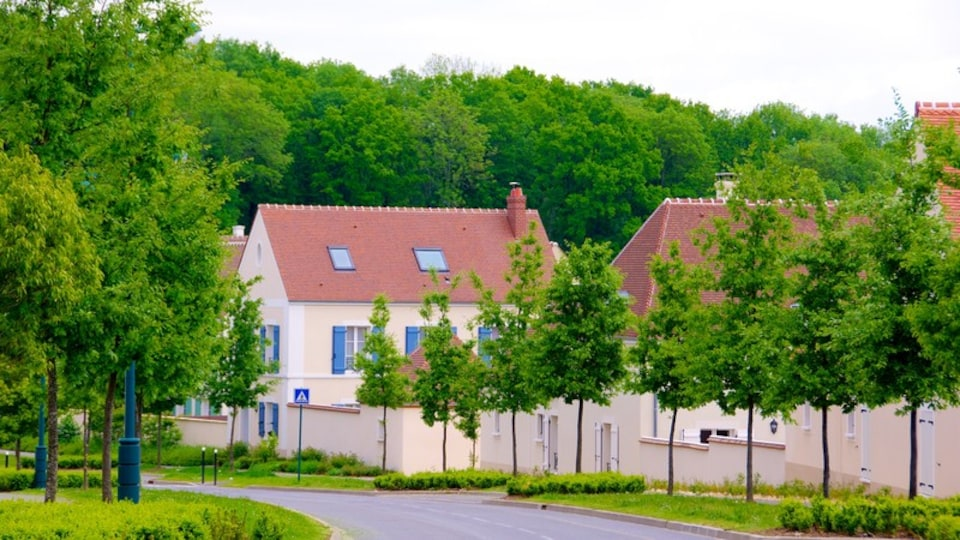 Magny-le-Hongre featuring a small town or village, street scenes and a house