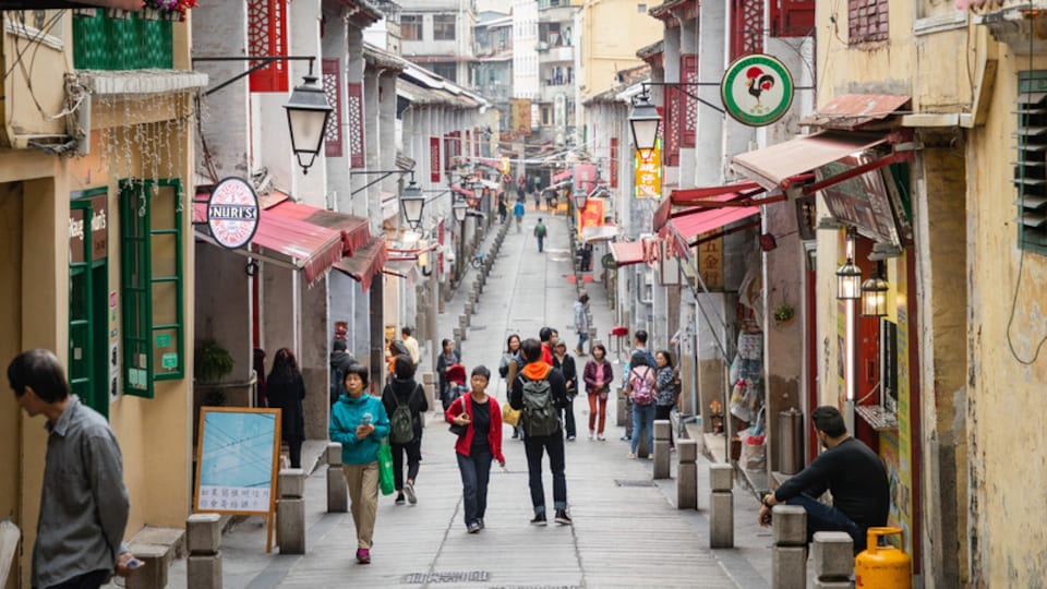 Macau City Centre which includes street scenes