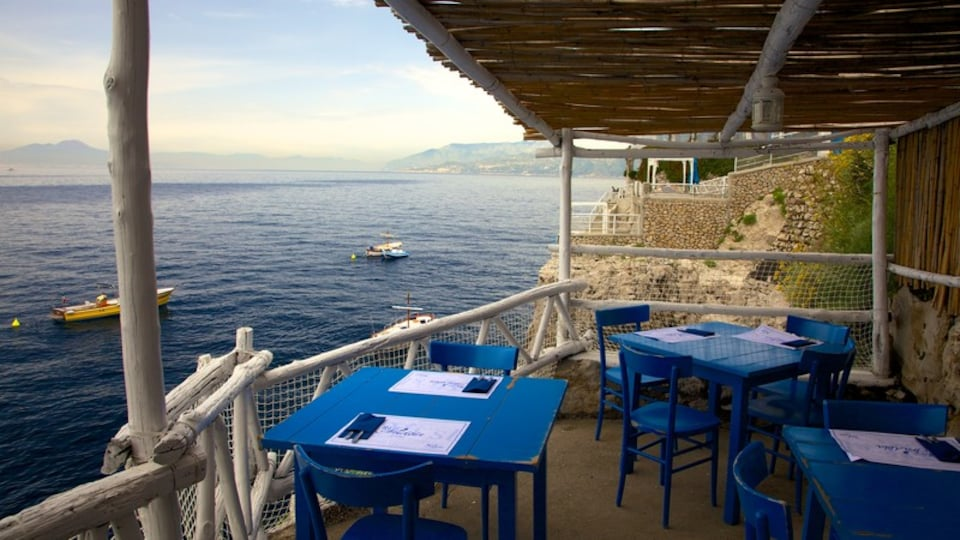Capri featuring general coastal views, boating and outdoor eating