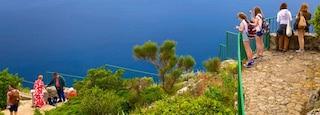 Mount Solaro showing views, a bay or harbor and general coastal views