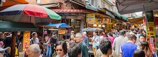 Jinbaoli Old Street showing markets and street scenes