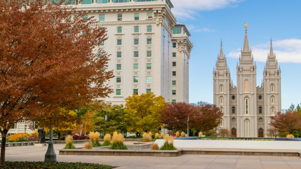 Northern Utah - Salt Lake City which includes a church or cathedral, a square or plaza and heritage architecture