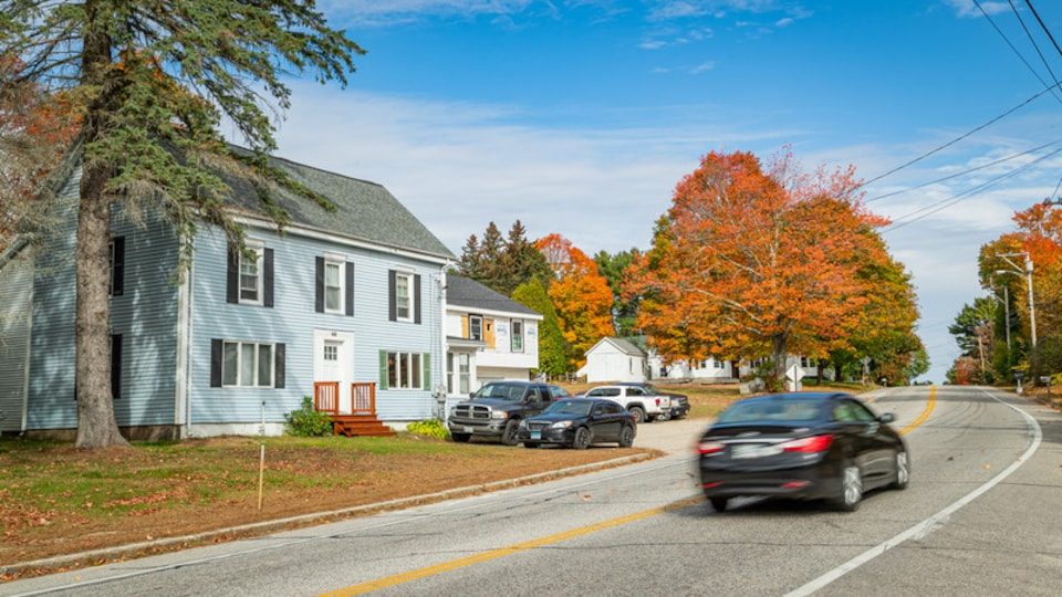 Windham featuring a small town or village and fall colors