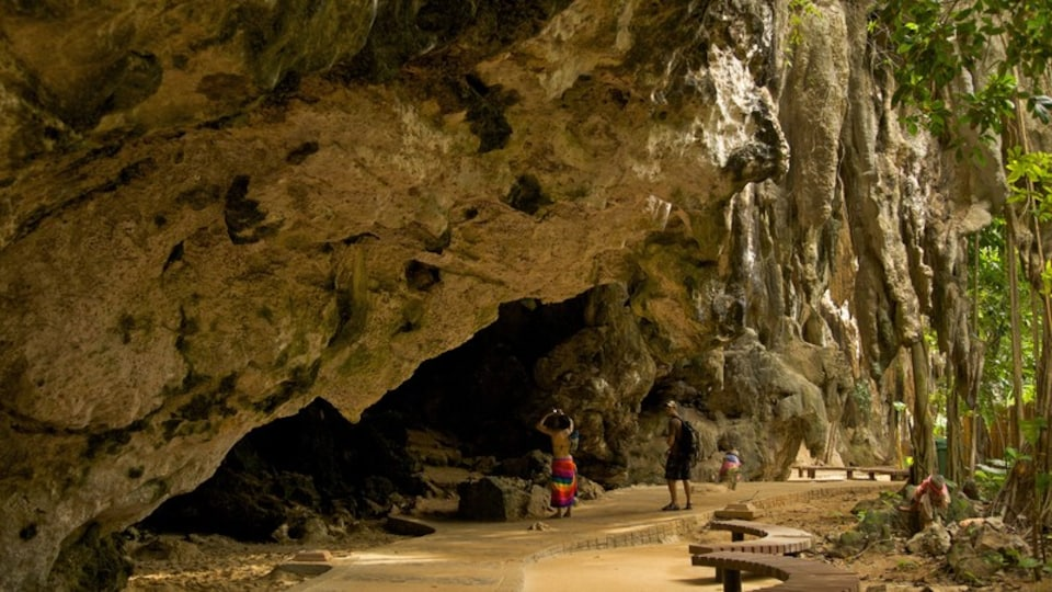 West Railay Beach which includes caves as well as a couple