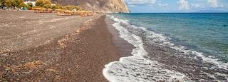 Santorini featuring general coastal views and rugged coastline
