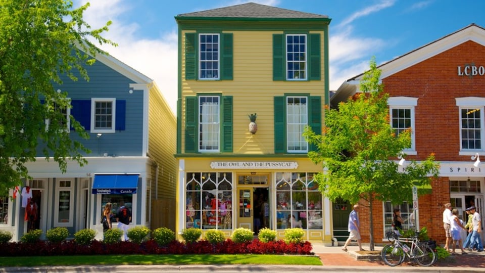 Niagara-on-the-Lake which includes a city and street scenes as well as a small group of people