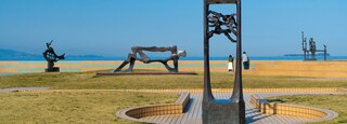 Nagisa Park which includes outdoor art and a park