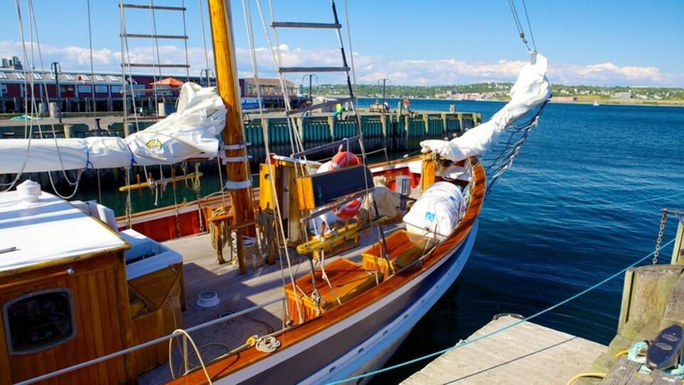 Halifax showing a marina