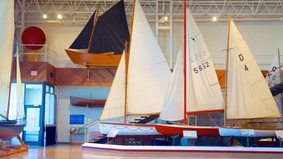 Maritime Museum of the Atlantic featuring interior views
