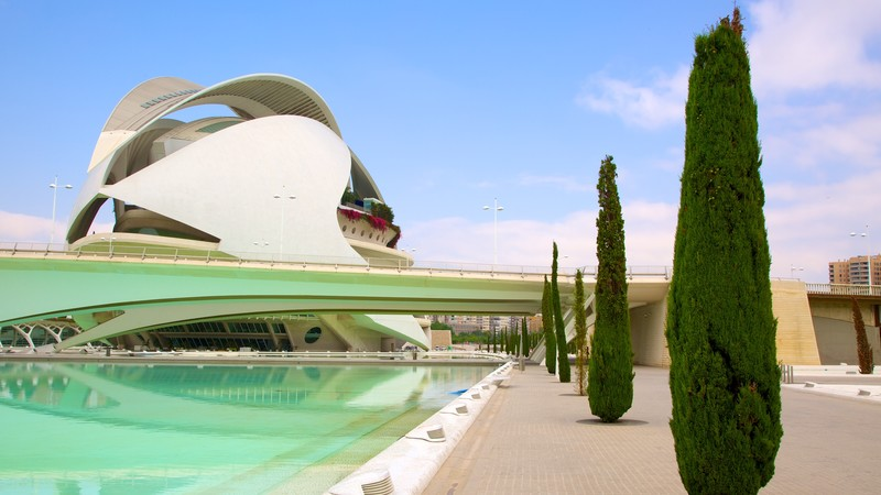 City of Arts and Sciences which includes modern architecture