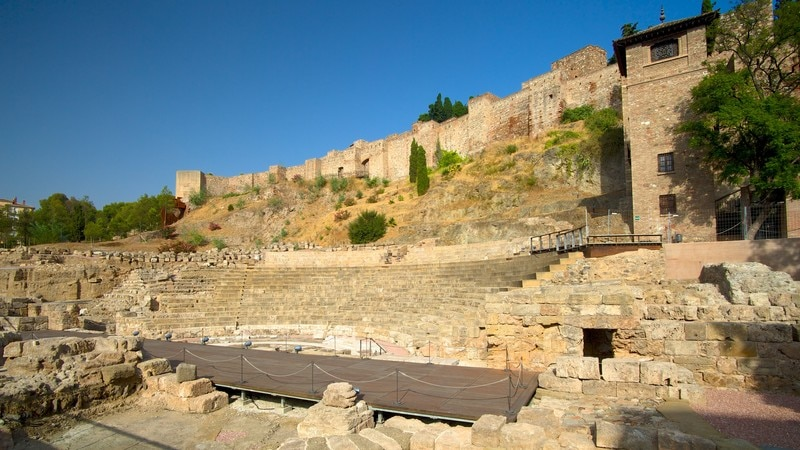 Malaga Amphitheatre showing a ruin and heritage architecture