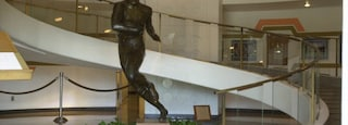 Pro Football Hall of Fame which includes interior views and a statue or sculpture