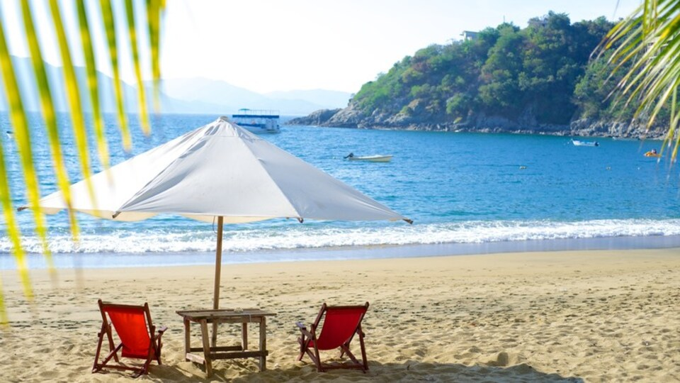 Playa La Audiencia which includes a beach, tropical scenes and landscape views