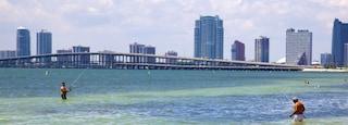 Miami featuring a bridge, general coastal views and fishing