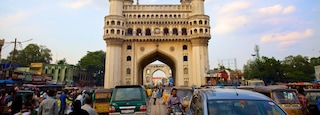 Charminar showing a monument, heritage architecture and a city
