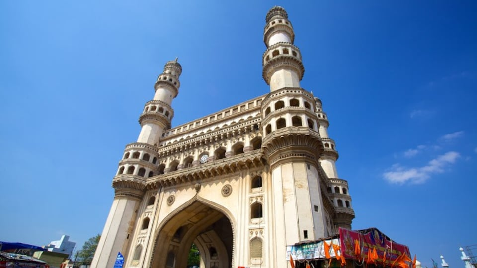 Charminar which includes a mosque and heritage architecture