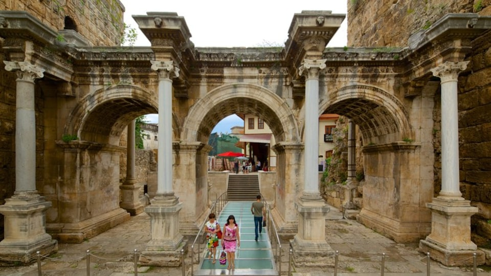 Hadrians Gate featuring heritage architecture
