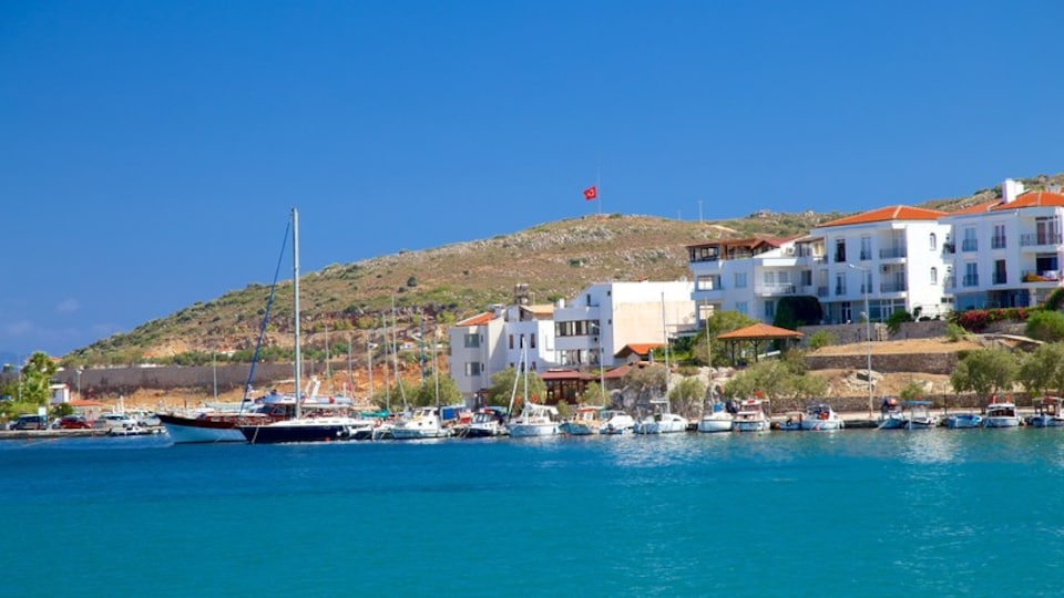 Datca Ferry Port featuring a marina