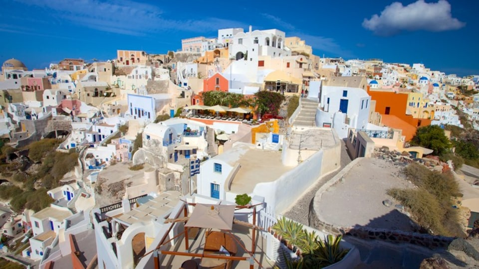 Oia featuring landscape views and a city