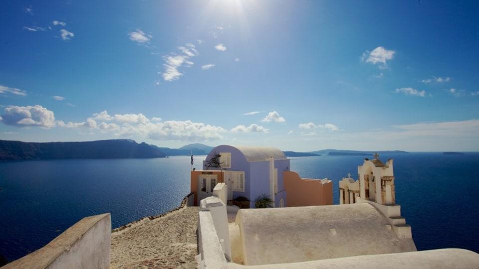 Oia featuring general coastal views and a coastal town