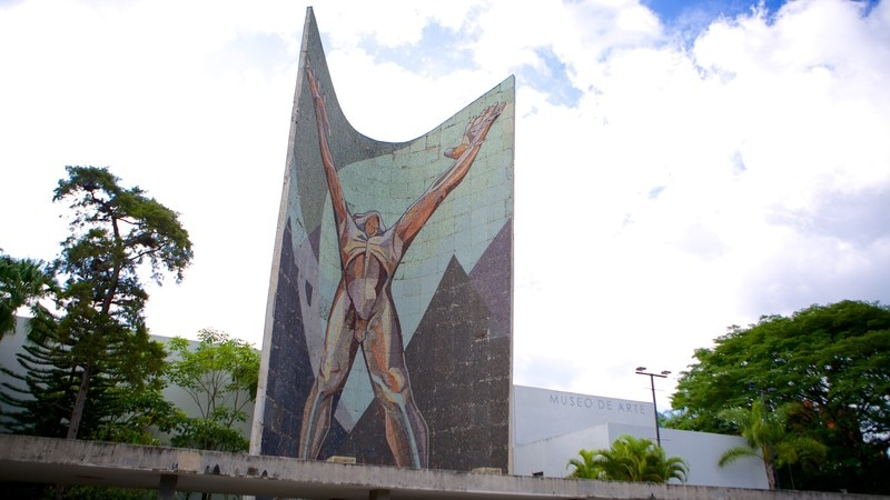Museo de Arte de El Salvador which includes outdoor art