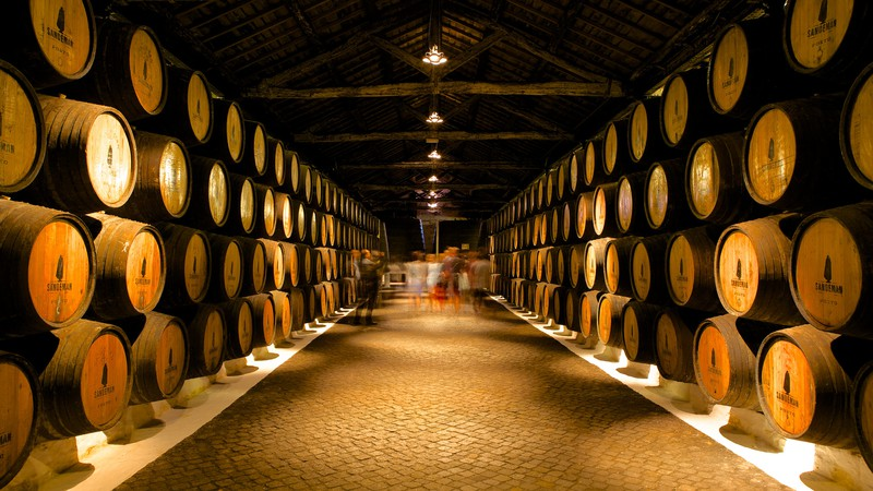 Sandeman Cellars which includes drinks or beverages and interior views