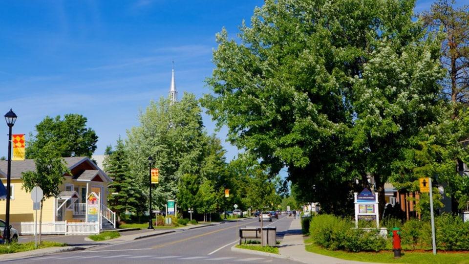 Bromont featuring street scenes
