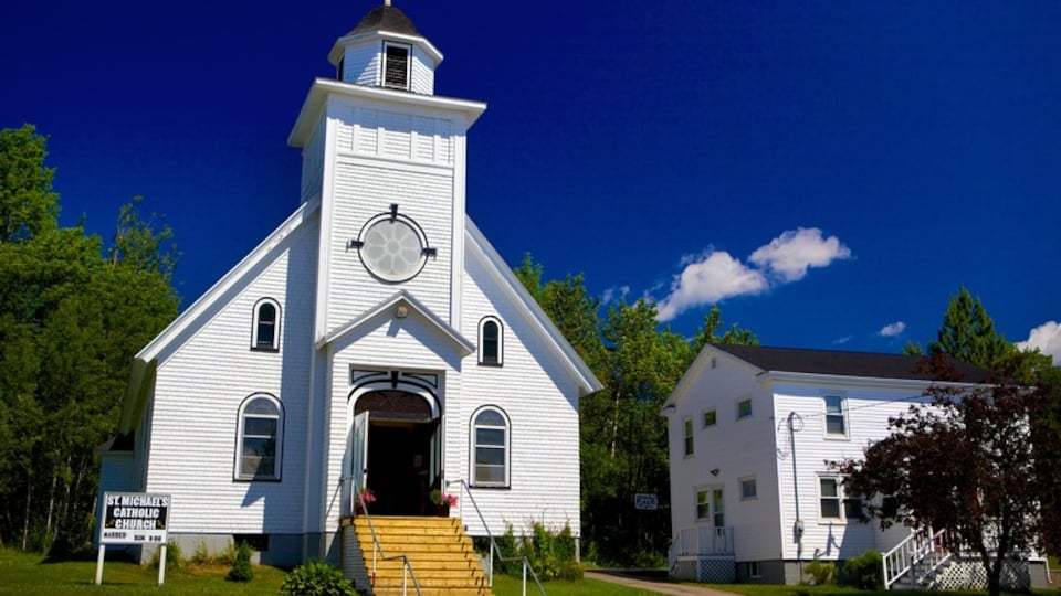 Baddeck which includes a church or cathedral