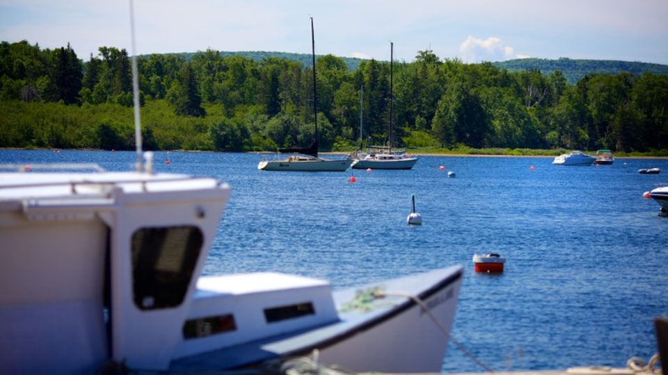 Baddeck which includes a bay or harbor