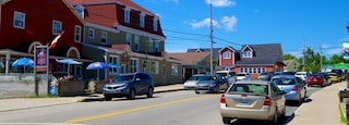 Baddeck which includes street scenes and a small town or village