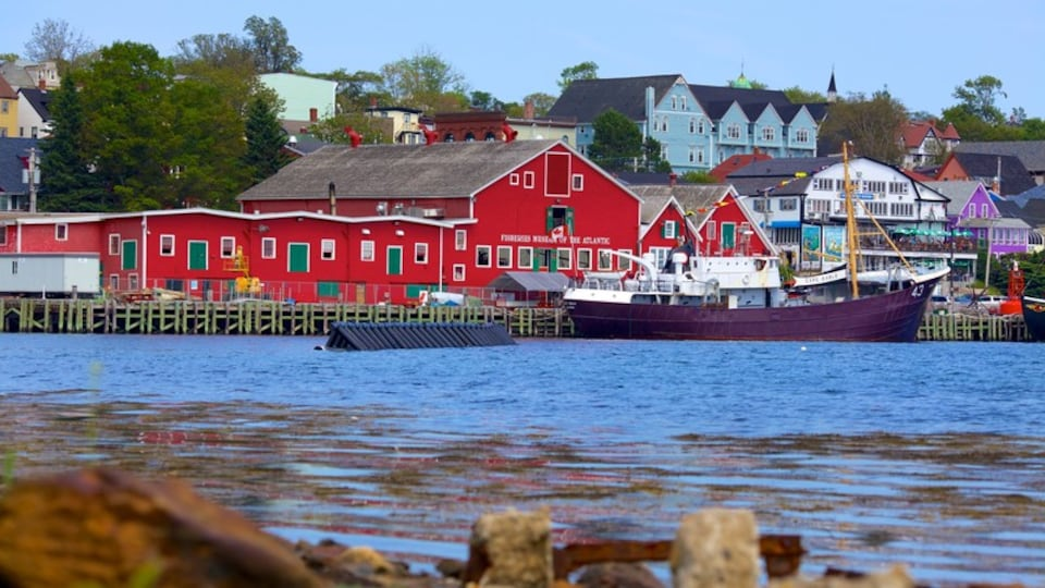 Lunenburg featuring a coastal town, a house and boating