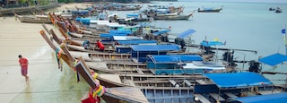 Ko Phi Phi showing general coastal views, boating and a bay or harbor