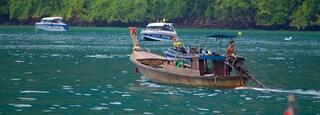 Ao Ton Sai Beach showing general coastal views and boating