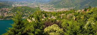 Como showing forest scenes, mountains and a coastal town