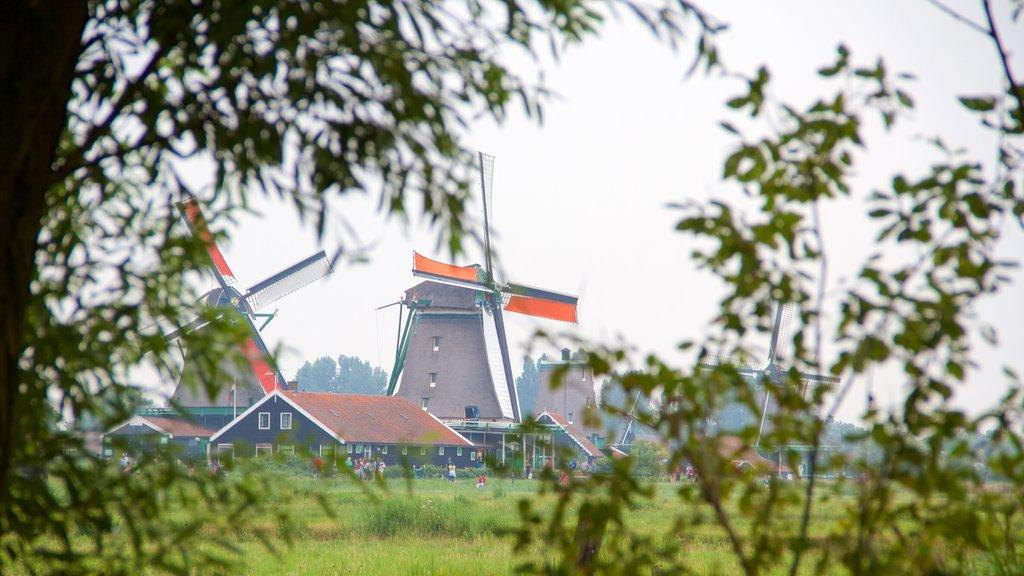 Zaanse Schans showing a windmill
