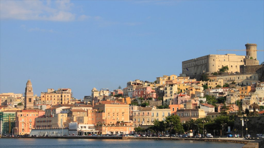 Gaeta which includes a city and general coastal views