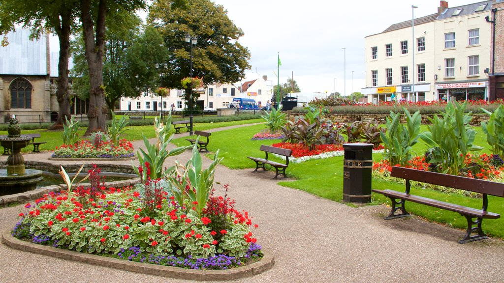 Wisbech showing a garden and flowers
