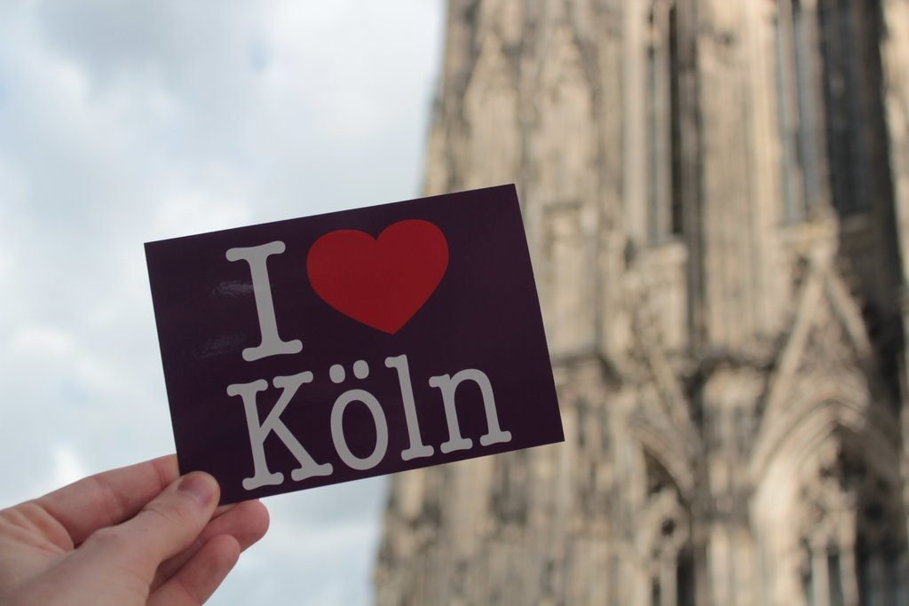 I love Cologne postcard