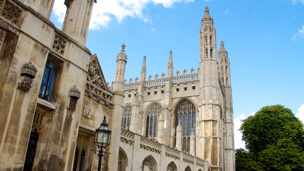 King\'s College showing heritage architecture, a church or cathedral and heritage elements