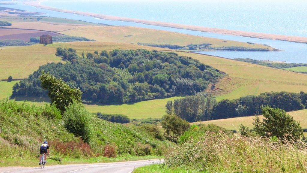 Dorset mostrando ciclismo de carretera, escenas tranquilas y vistas generales de la costa