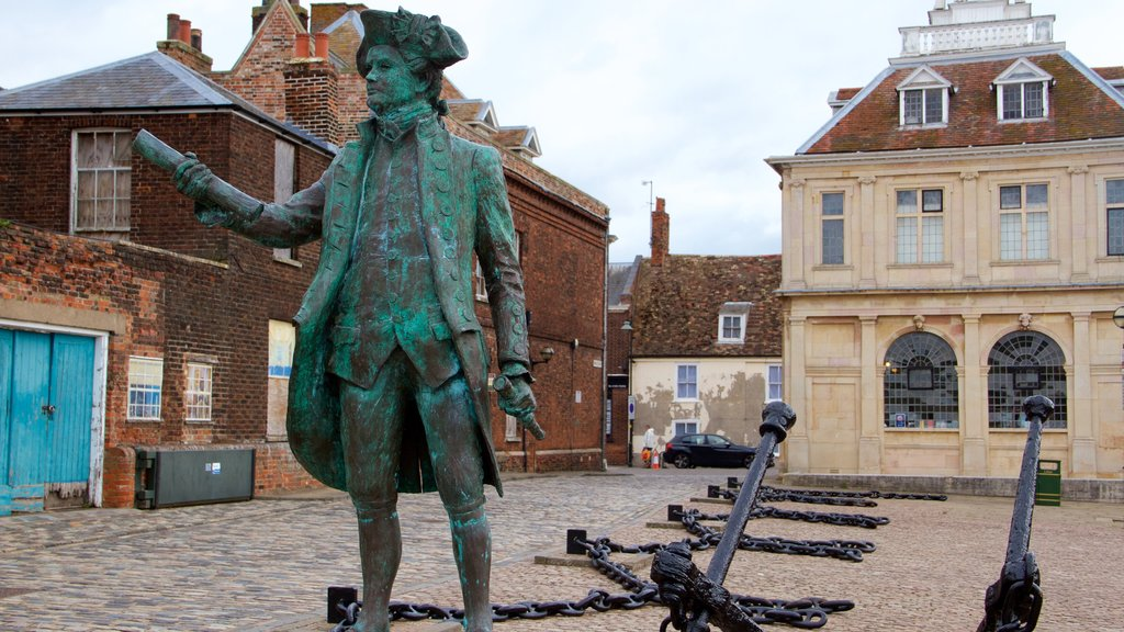King\'s Lynn featuring heritage architecture and a statue or sculpture