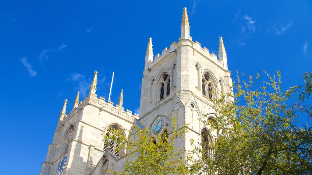 King\'s Lynn showing heritage elements, a church or cathedral and heritage architecture
