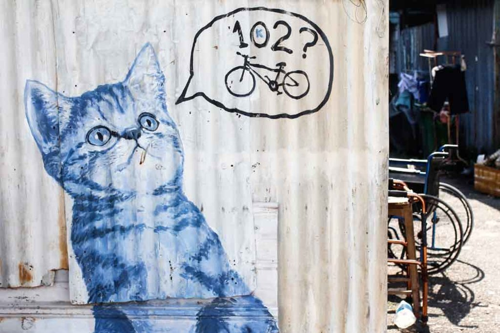 Katzen Street Art in Penang, Malaysia